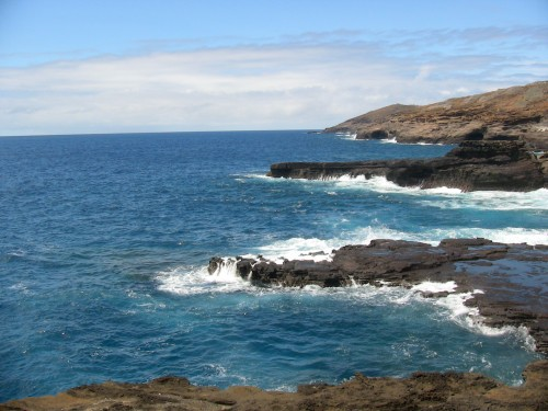 The Hawaiian shoreline that received Madelyn Dunhams ashes the day before Christmas.