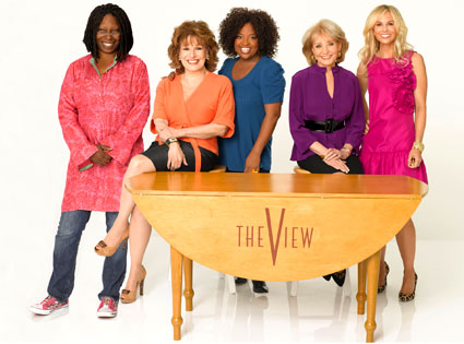 The quickest and most efficient way to de-fang Sarah Palin - From left - Whoopi Goldberg, Joyce Behar, Sherri Shepherd, Barbara Walters, and the runt of the litter, Elizabeth Hasselback.