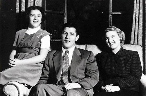 Stanley Ann, Stanley and Madelyn Dunham in the 1950s. Courtesy - Obama For America