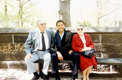 Stanley, Barack and Madelyn Toot Dunham in an undated photo. Note the ease with which Stanley relates to Barack in terms of body language.