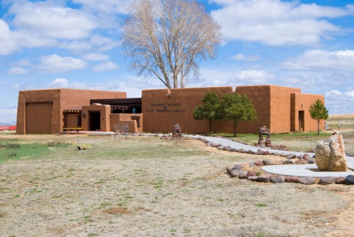 Lobos resting place under the New Mexico sun: The Philmont Museum & Seton Memorial Library. A sense of place that can be enhanced b a little touch of dignity.