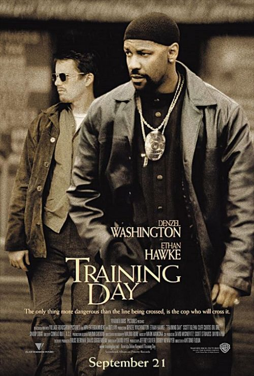 Ethan Hawke and Denzel Washington in Training Day.