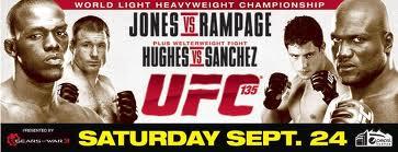 Jon Jones vs Rampage Jackson - UFC 135 Poster - Alt